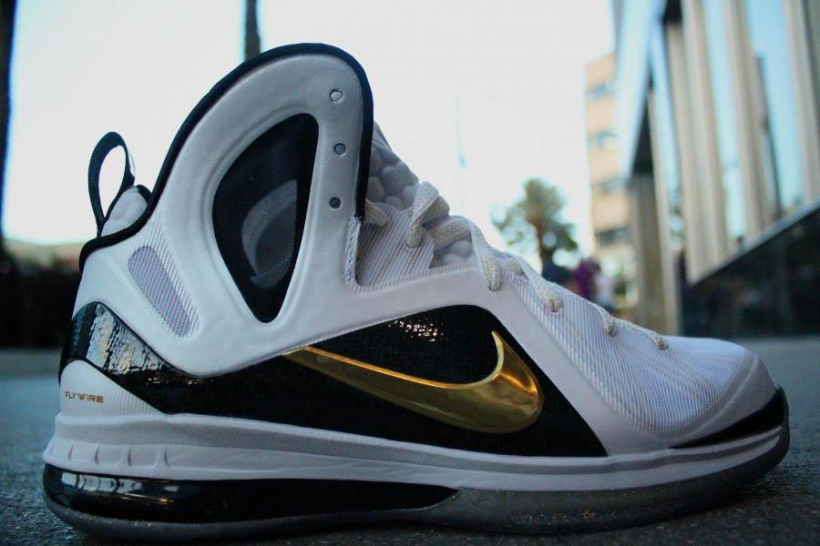 e73c9a330c063 Nike LeBron 9 P.S. Elite Home White Gold 516958-100 (1)