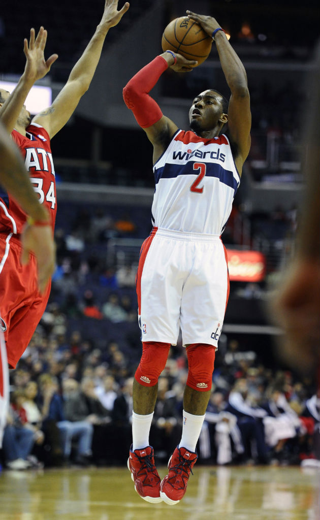 John Wall wearing adidas Top Ten 2000 Red Navy (3)