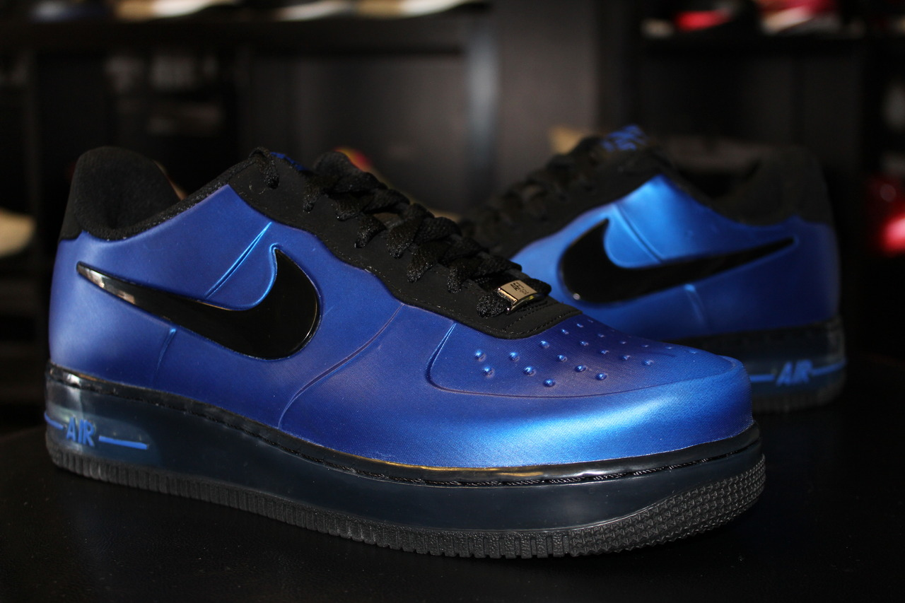 86f3cbc7c2022 Nike Air Force 1 Foamposite Pro Low - Game Royal Black