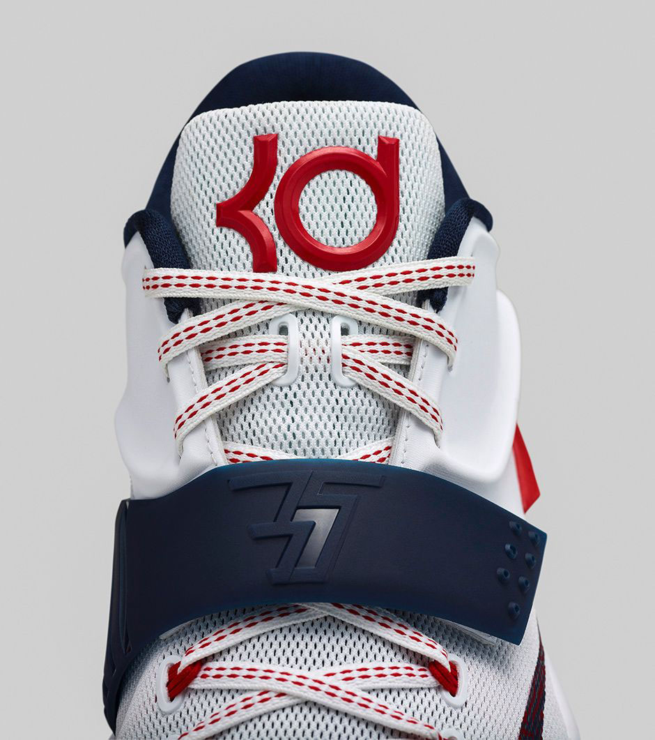 Nike KD 7 USA Independence Day July 4th White Red