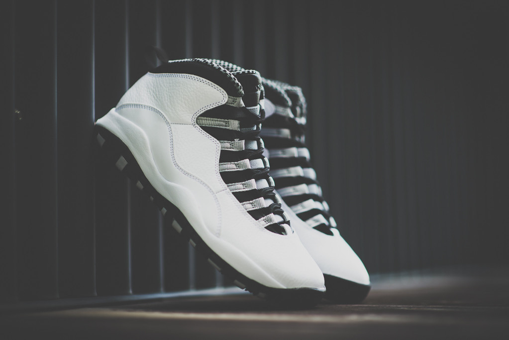 the best attitude c4f05 bfa5e Air Jordan 10 in white black and steel grey