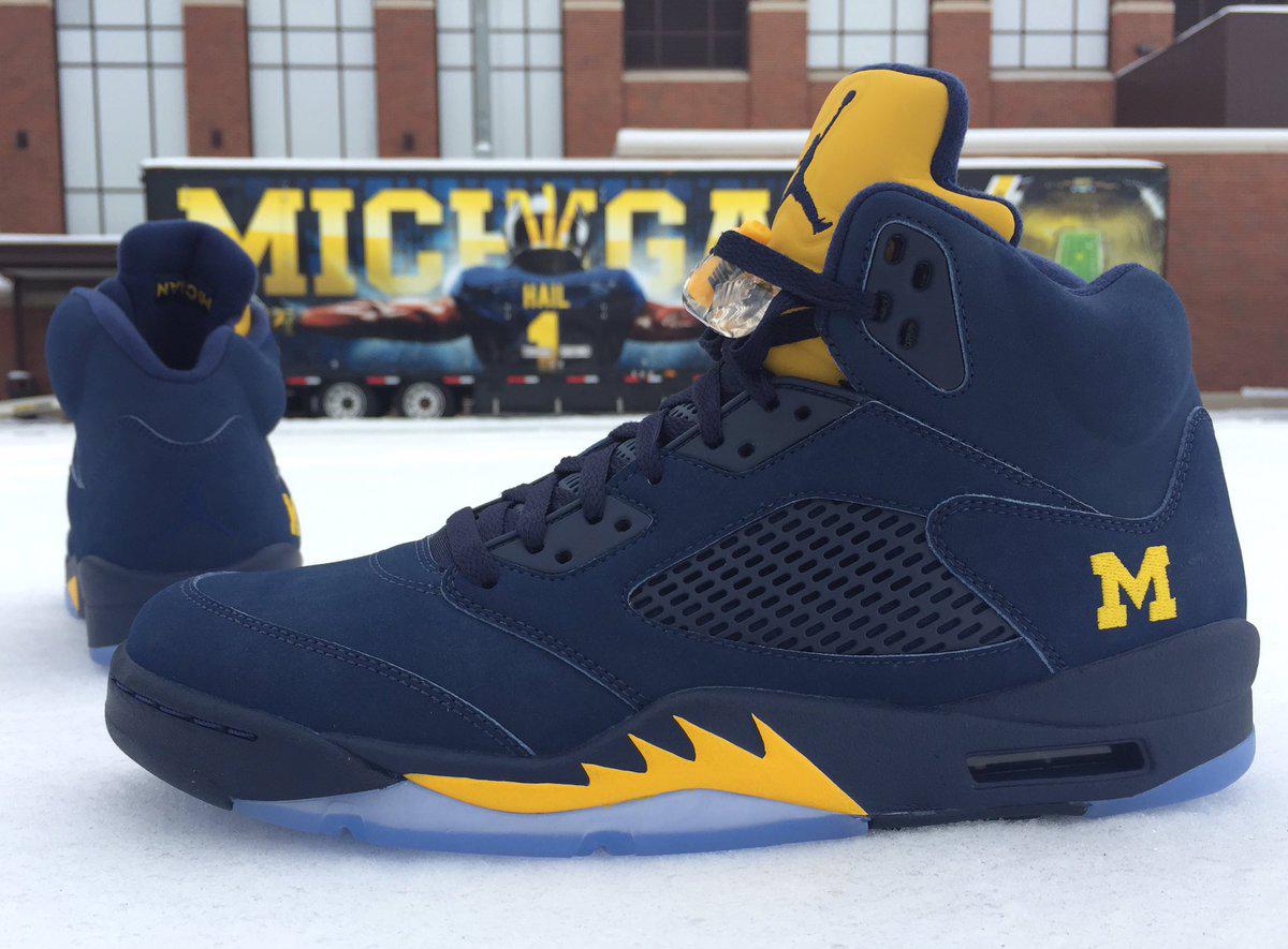 Michigan Jordan Gear >> Michigan Air Jordan 5 | Sole Collector
