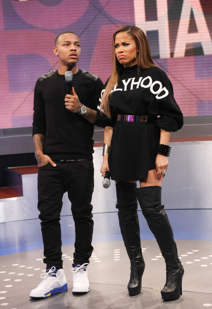 Bow Wow wearing Air Jordan 5 V Retro Laney