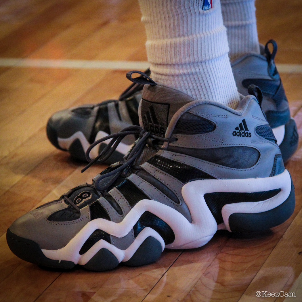 Sole Watch: Up Close At MSG for Knicks vs Nets - Tim Hardaway Jr. wearing adidas Crazy 8 Grey