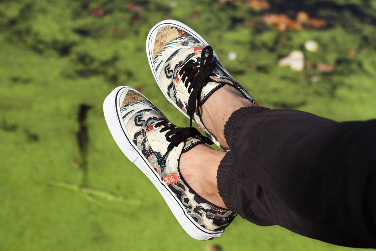 UBIQ x Vans Vault Three Tides Tattoo Era LX on-foot