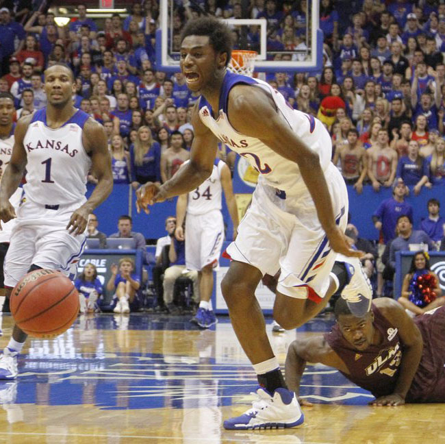 Andrew Wiggins Makes Kansas Debut in adidas Rose 773 2 PE (1)