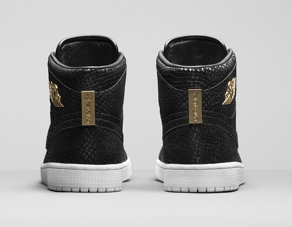 Air Jordan 1 Pinnacle Black/Gold 705075-030 (6)