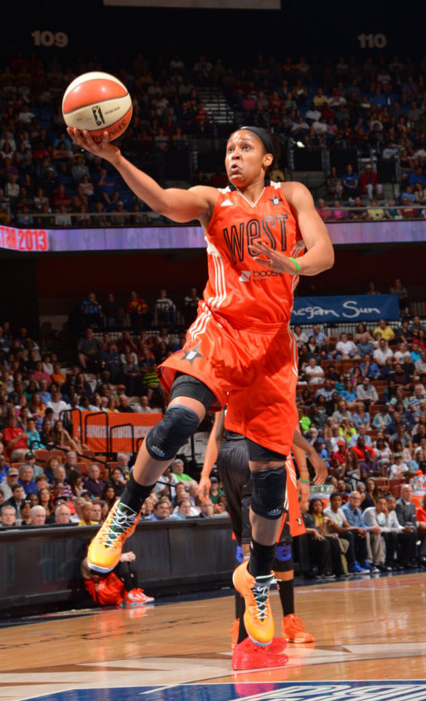 Maya Moore wearing Jordan Super.Fly 2 All-Star PE