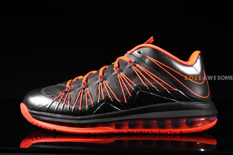 watch 6678b 12e80 Nike LeBron X Low - Black Orange