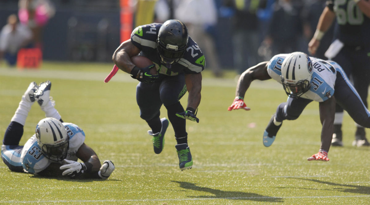 Marshawn Lynch Wears Air Jordan 12 XII PE Cleats (10)
