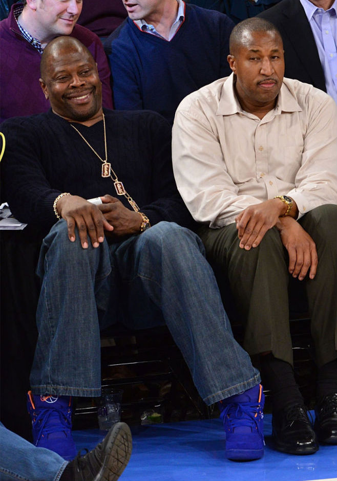 Patrick Ewing wearing Ewing Athletics 33 Hi Knicks Blue (2)