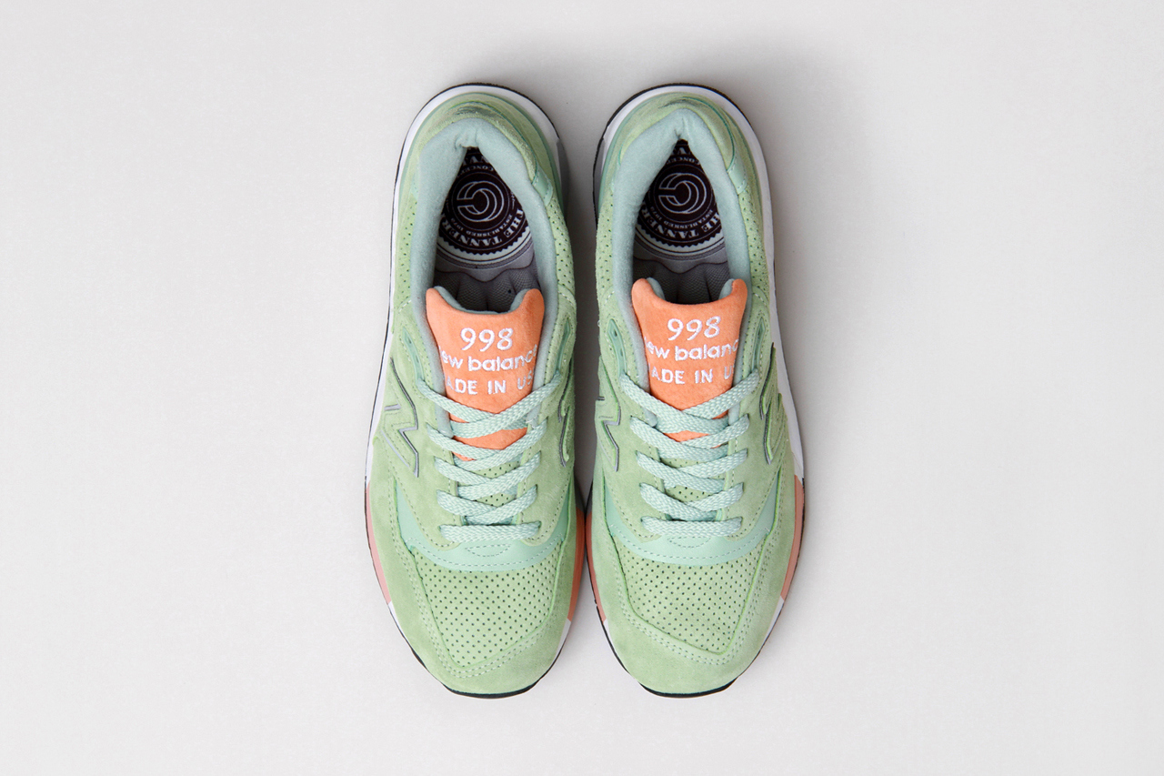 Cncpts x New Balance Made in USA M998TNY mint suede upper