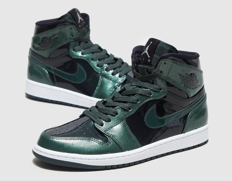 9dad57df964f78 Air Jordan 1 High Grove Green Patent Leather 332550-300