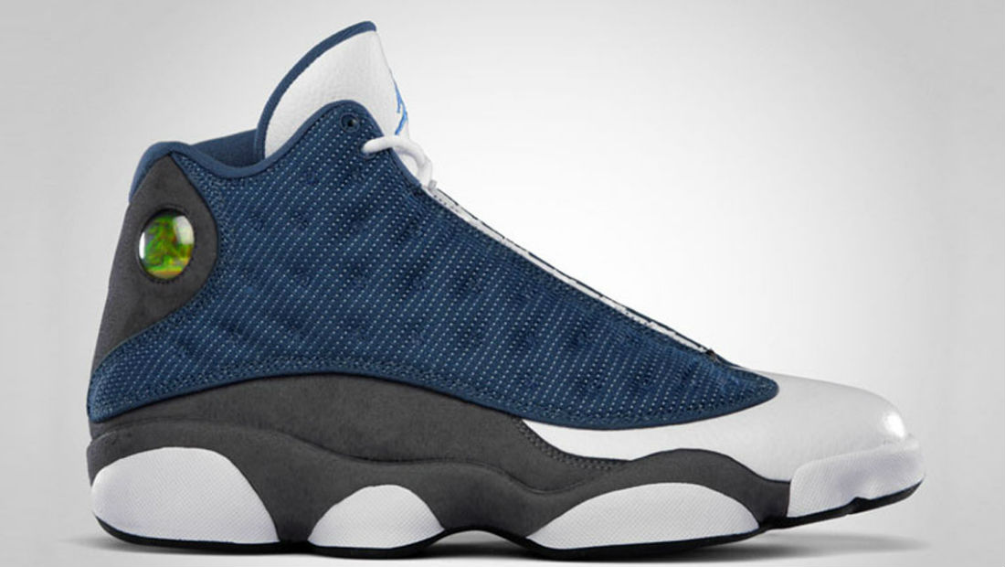 Retro Jordans 13 Cheap Blue Grey White