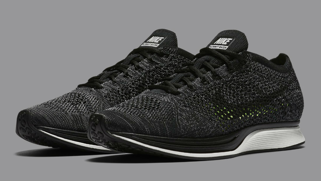 info for 3b2d9 9b7d6 Nike Flyknit Racer Black Knit by Night 526628-005   Sole Collector