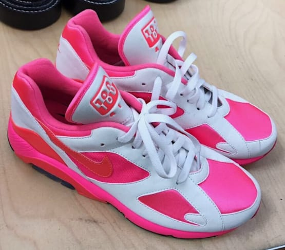 Pictures Online Pink CDG X Nike Air Max 180 Sneakers - Pink & Purple Comme Des Gar?ons Get Authentic Cheap Online Cheap Best Wholesale Clearance Reliable Really Cheap Shoes Online tCAlDh