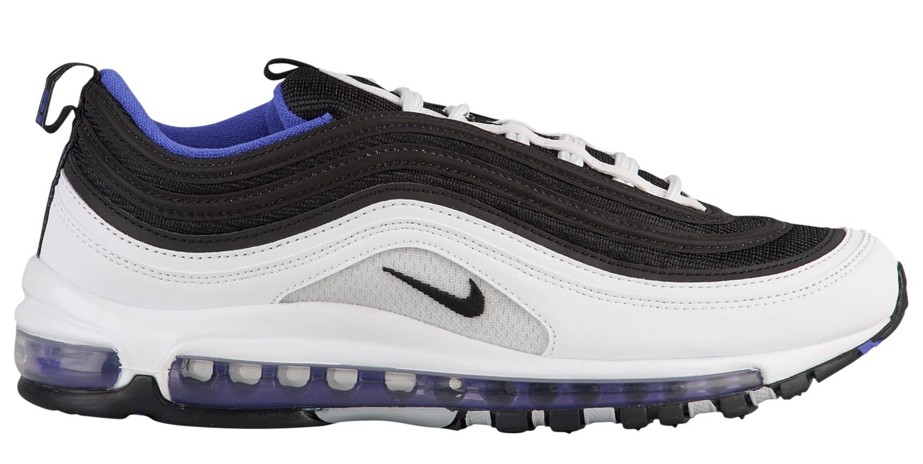Nike SportswearAIR MAX 97 - Trainers - white/black/persian violet MfVFqycWk