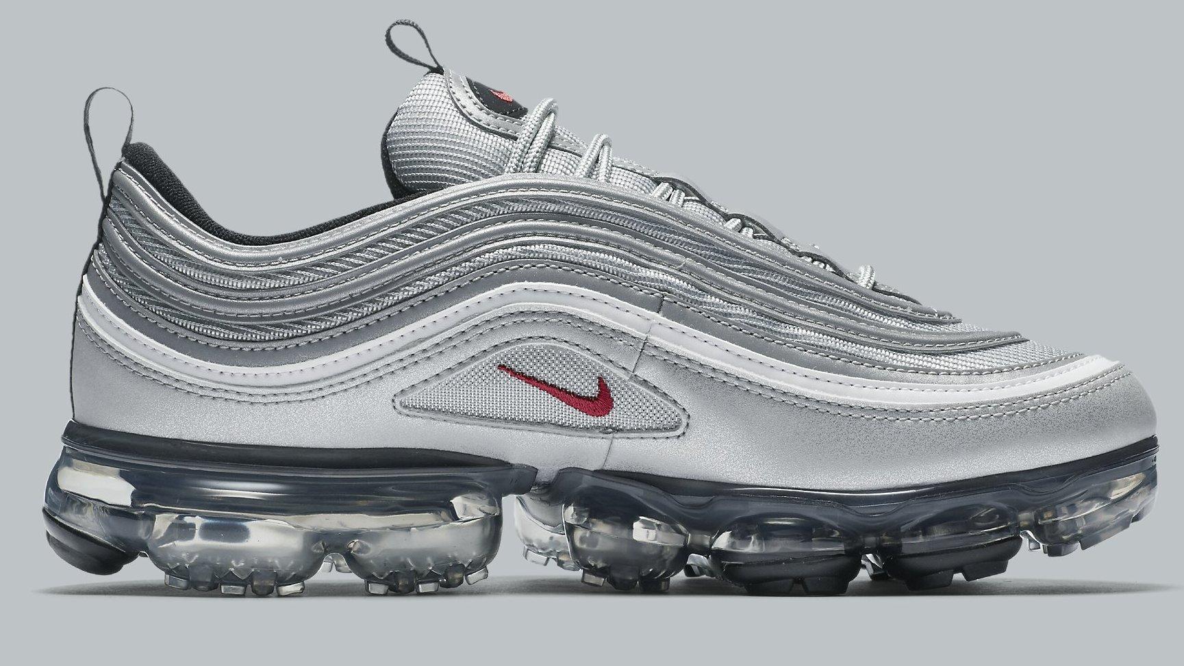 Nike Air Vapormax '97 - Metallic Silver/Varsity Red great deals online Hs4ktk