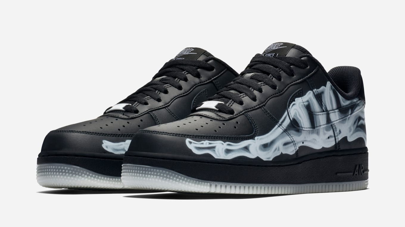 Nike Air Force 1 Low Black 'Skeleton' Release Date | Sole