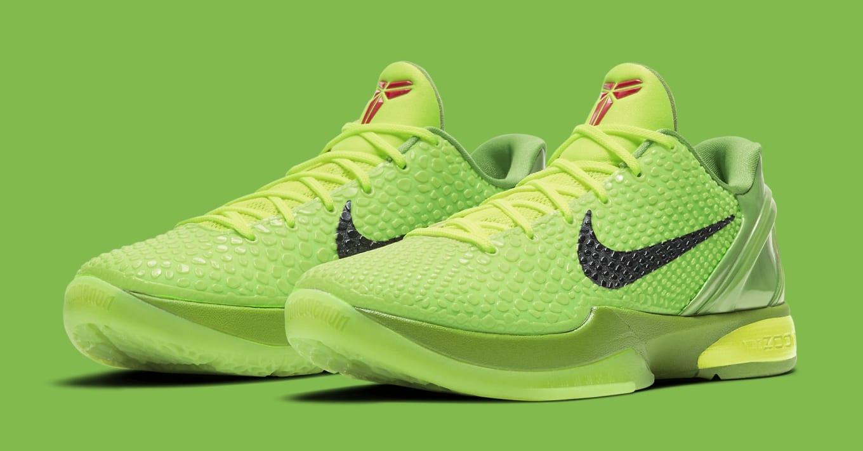 Nike Zoom Kobe 6 Protro 'Grinch' Release Date CW2190-300 | Sole ...