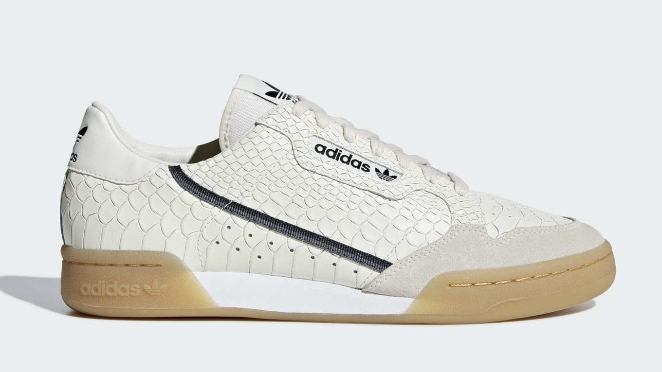 new style 57670 bedfe Adidas Adds Snakeskin to the Continental 80