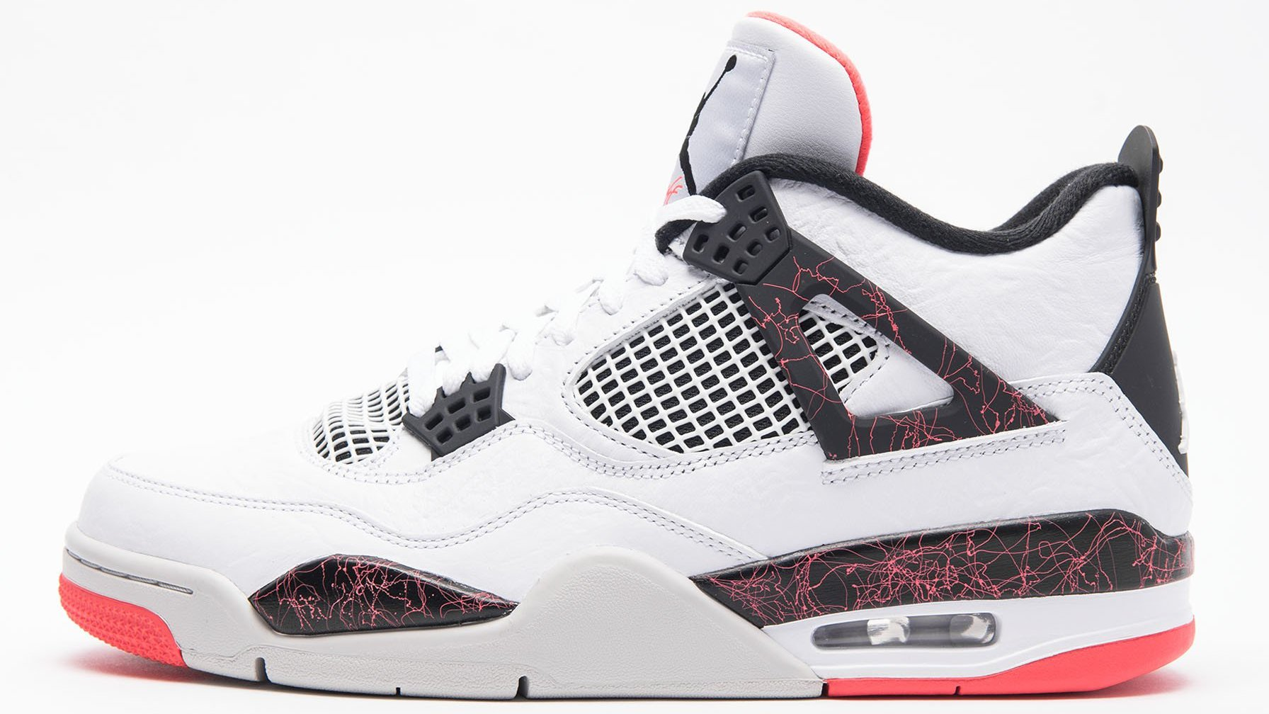8ed7f550150407 Air Jordan 4 Retro  White Black-Light Crimson-Pale Citron  308497-116  Release Date