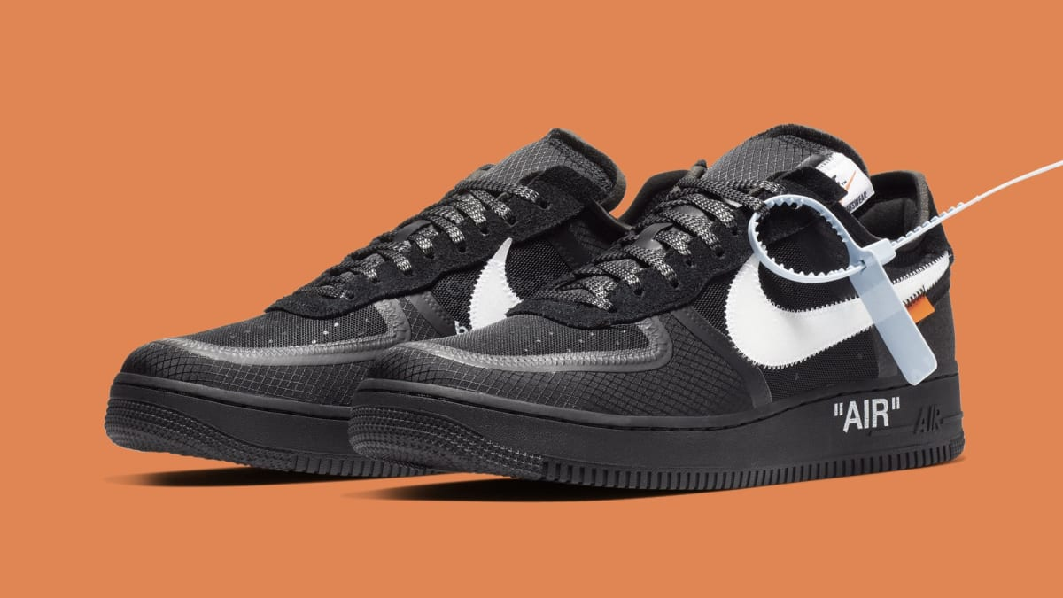 nike off white air force 1 black release date