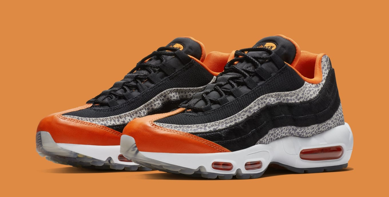 f21d268cdb Nike Air Max 95 'Safari' Black/Granite/Safety Orange AV7014-002 ...