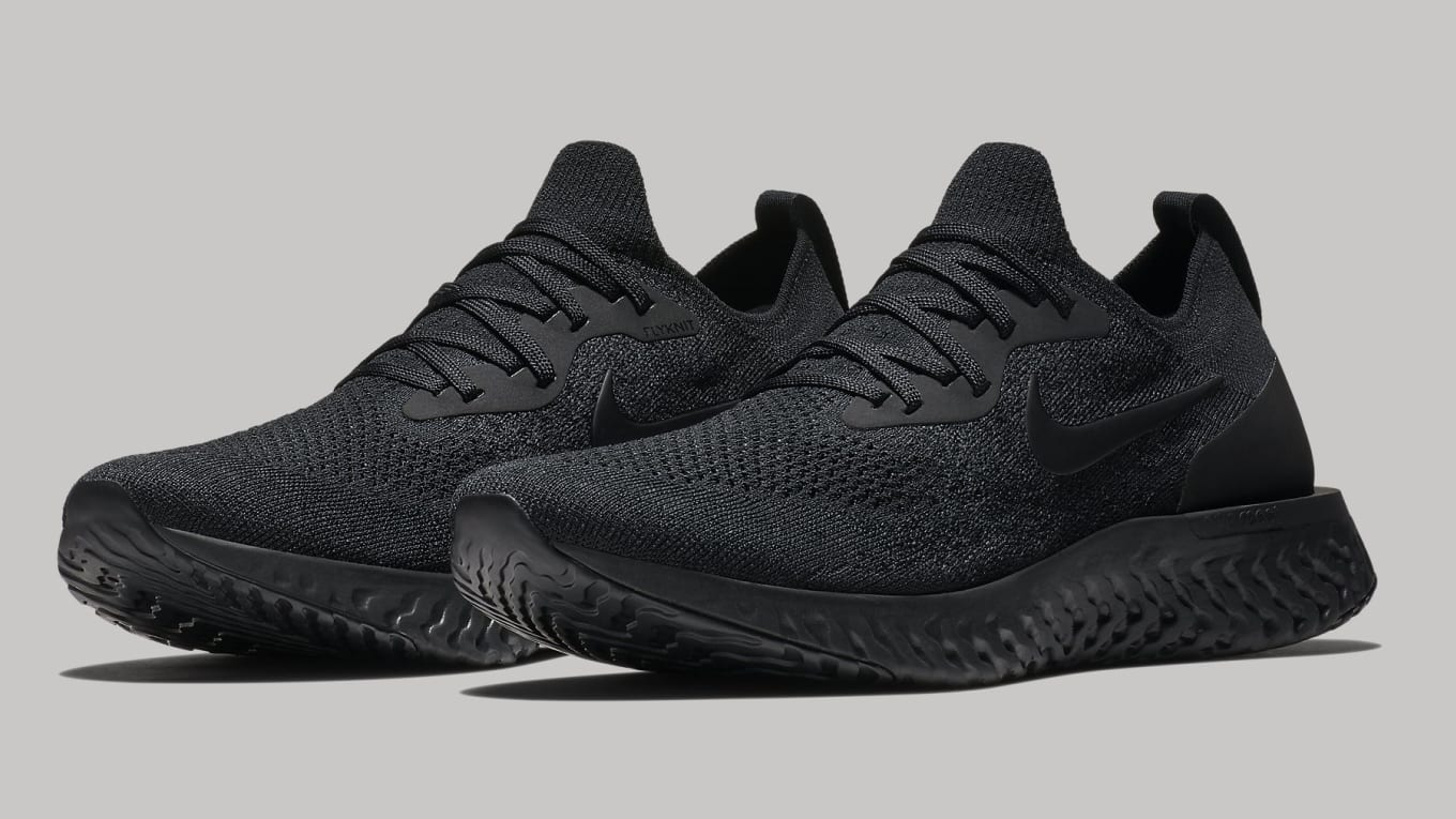 d3503448241 Nike Epic React Flyknit  Triple Black  Release Date July 2018 AQ0067 ...