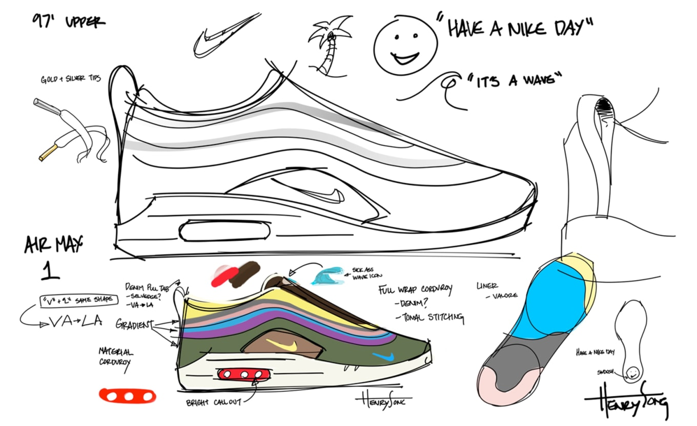 c99c7478b5 Sean Wotherspoon x Nike Air Max 1/97 VF Design Process | Sole Collector