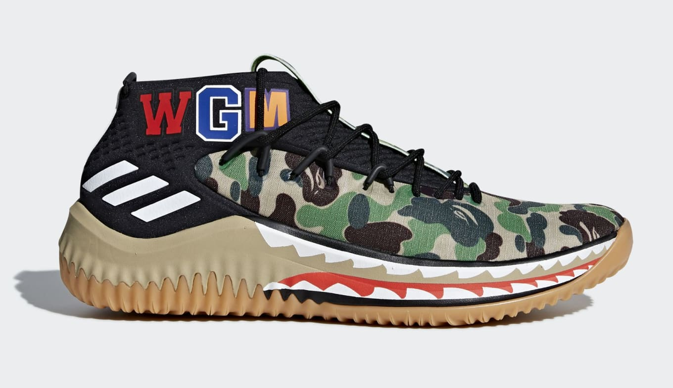 separation shoes 36361 79676 The Bape x Adidas Dame 4 Collaboration Has a Release Date