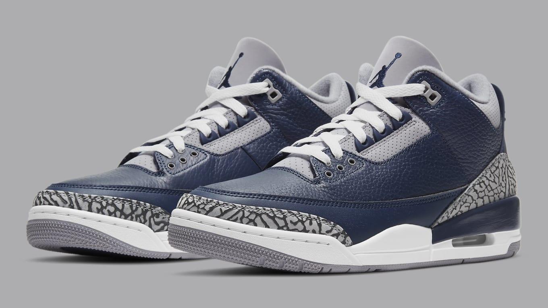 Air Jordan 3 Retro Midnight Navy/Cement Grey/White Release Date ...