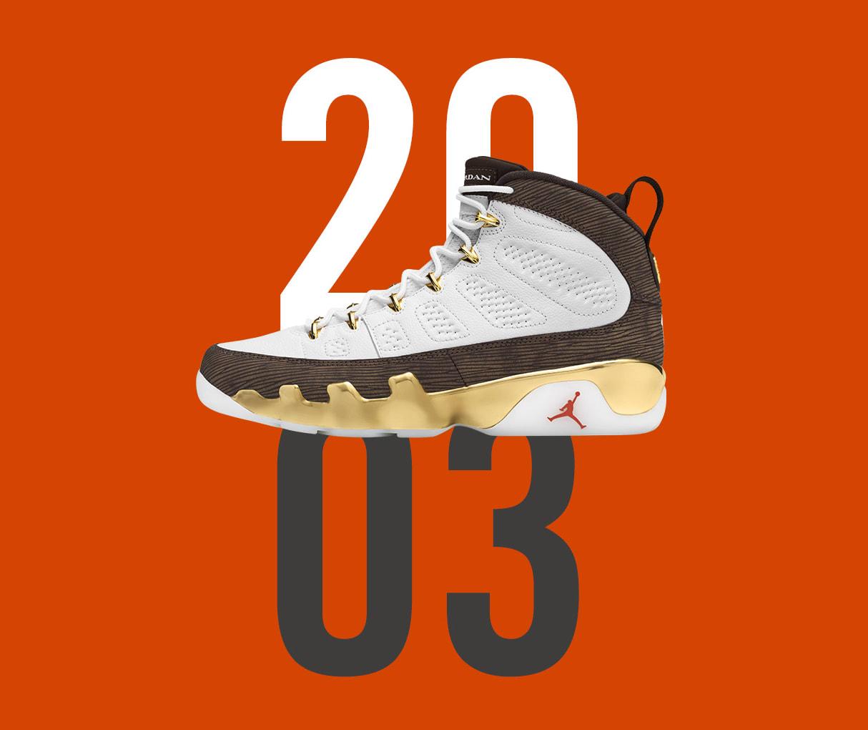 Giày Nike kỷ niệm giải đấu đại học Camelo Anthony bằng phiên bản đặc biệt Air Jordan 9