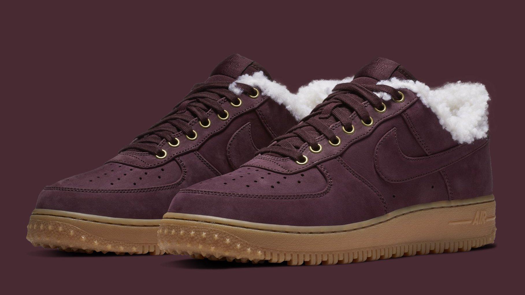Verter Historiador Perceptivo  Nike Air Force 1 Premium Winter 'Burgundy Crush/Gum Light Brown' AV2874-600  Release Date | Sole Collector