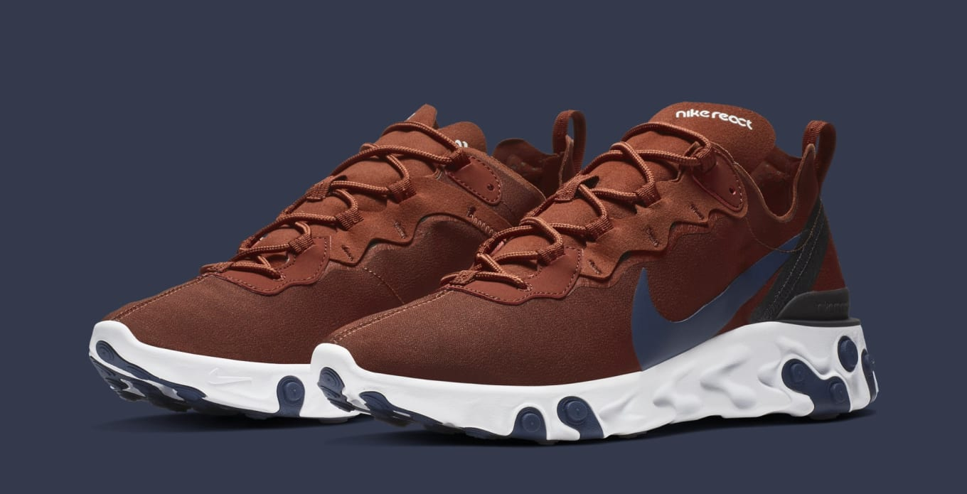 7635da7ff2cb8 Nike React Element 55  Brown  BQ6166-600 Release Date