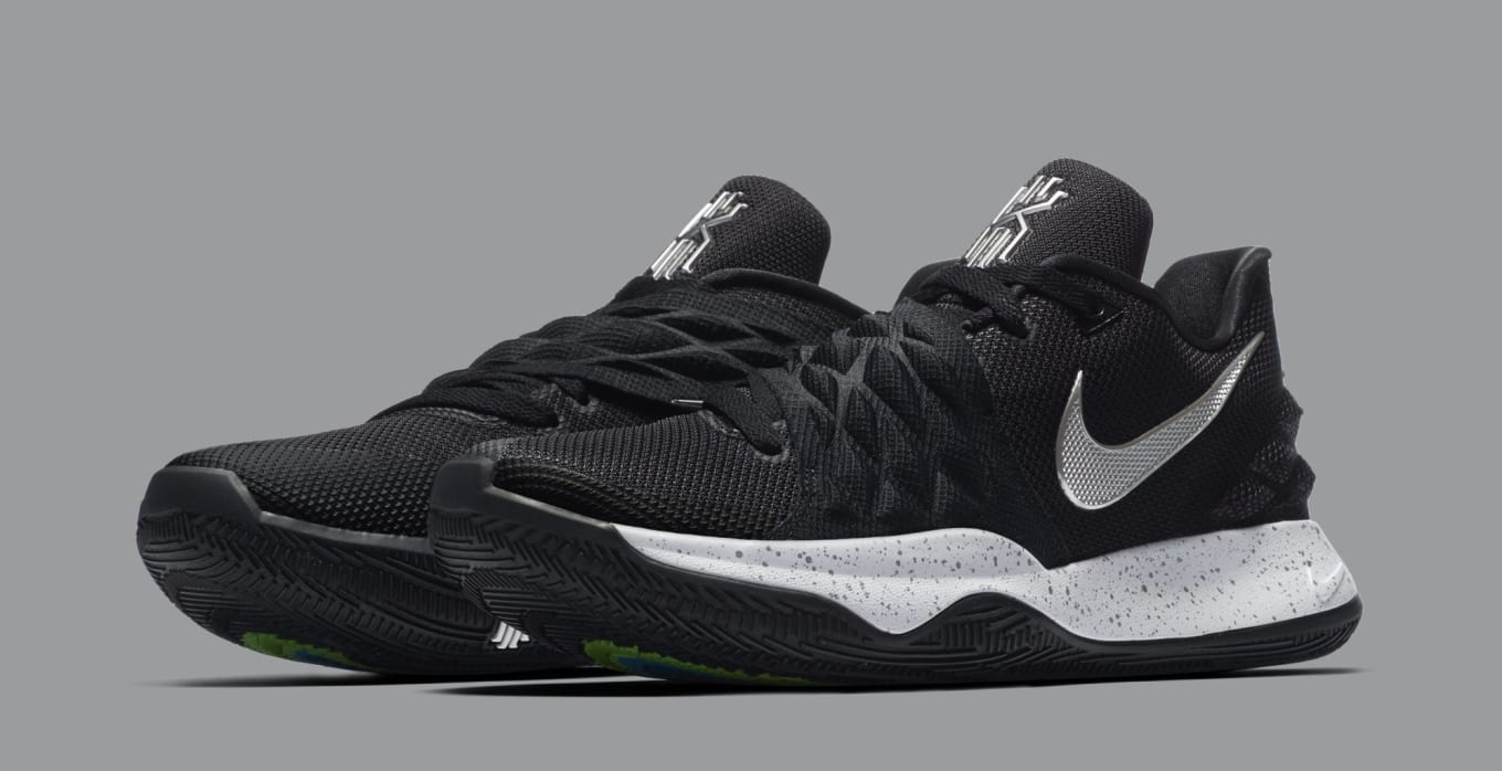 8be0ef1dab1 Nike Kyrie 4 Low  Black Metallic Silver  AO8979-003 Release Date ...