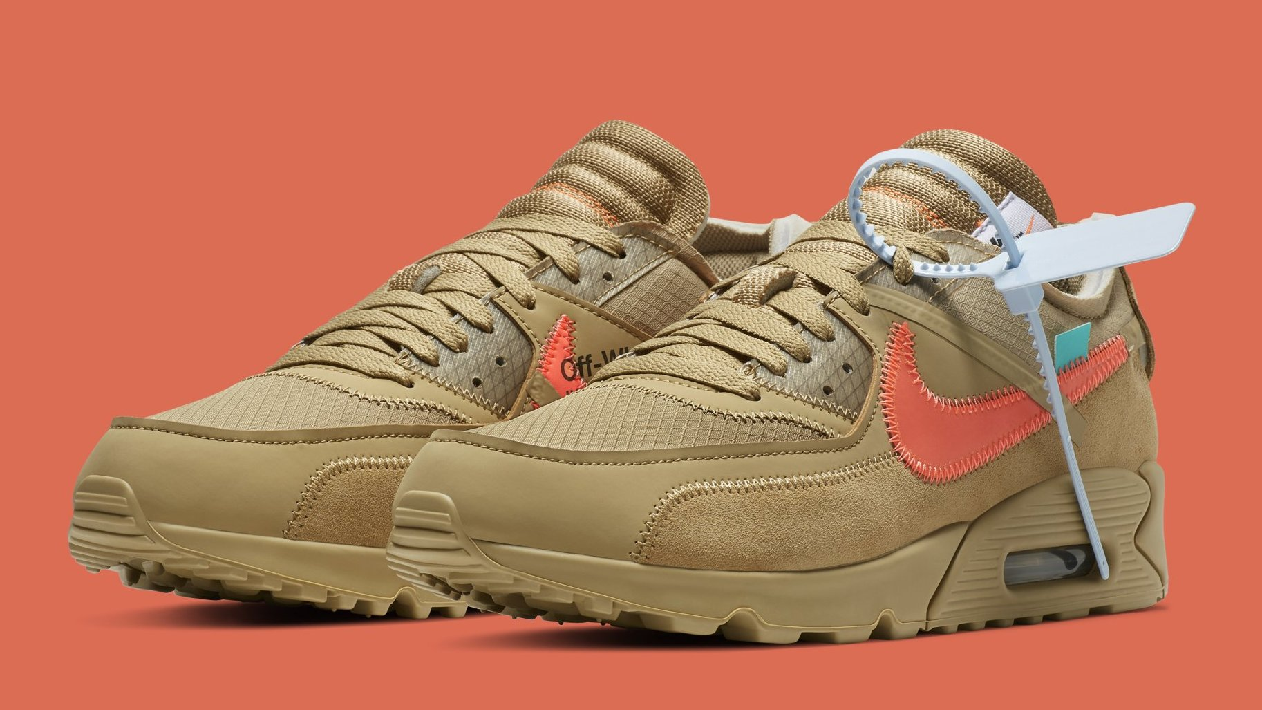 new concept e69e1 18766 Off-White x Nike Air Max 90  Desert Ore  AA7293-200 Release Date   Sole  Collector