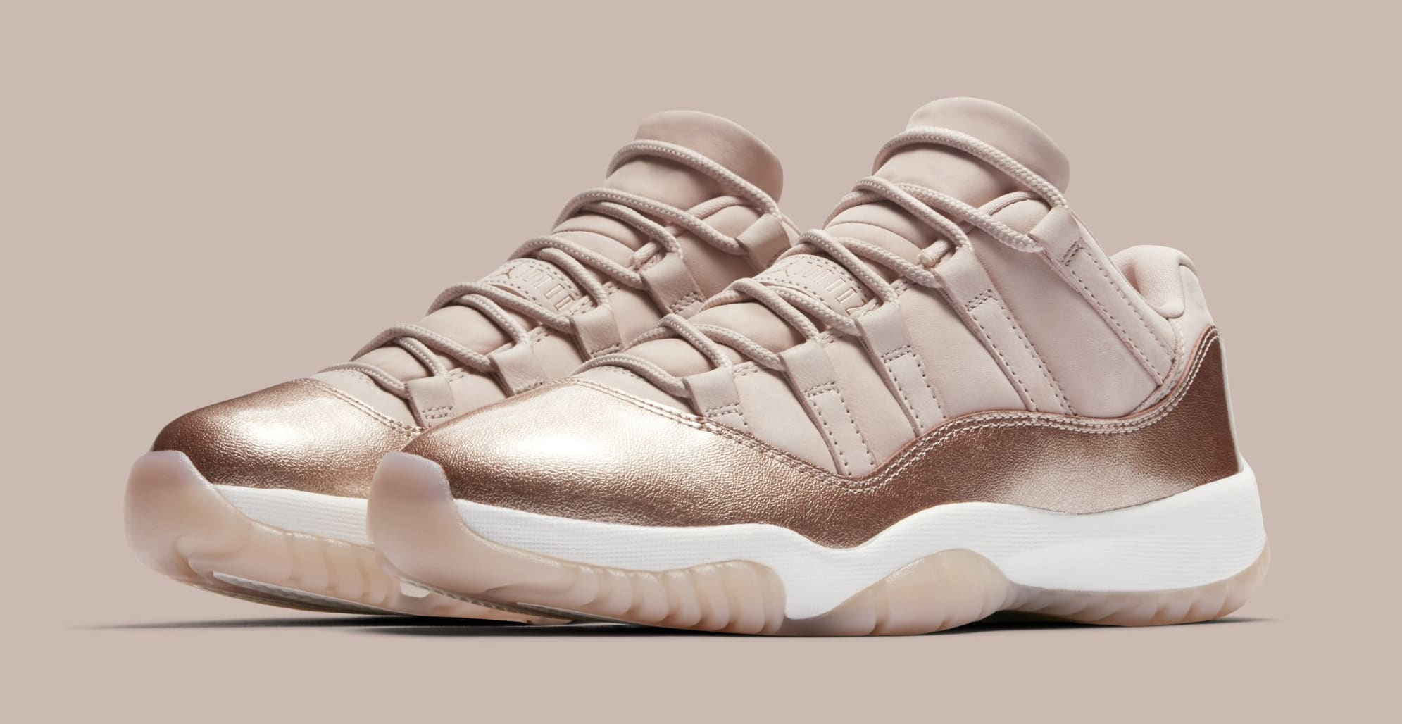 Air Jordan 11 Retro Low Rose Gold AH7860-105 2018 Womens Size 5.5 6.5