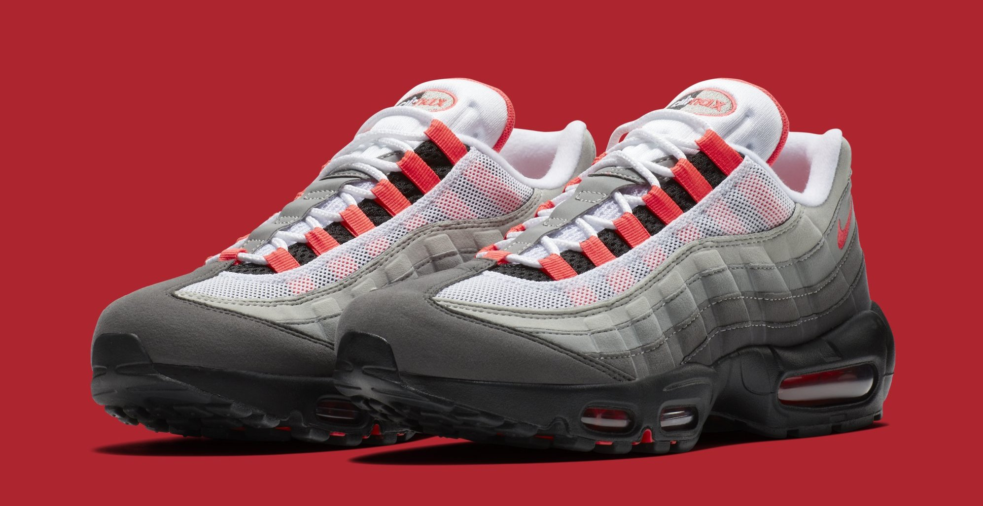 Vibrar Haiku Surrey  Nike Air Max 95 'Solar Red' AT2865-100 Release Date | Sole Collector