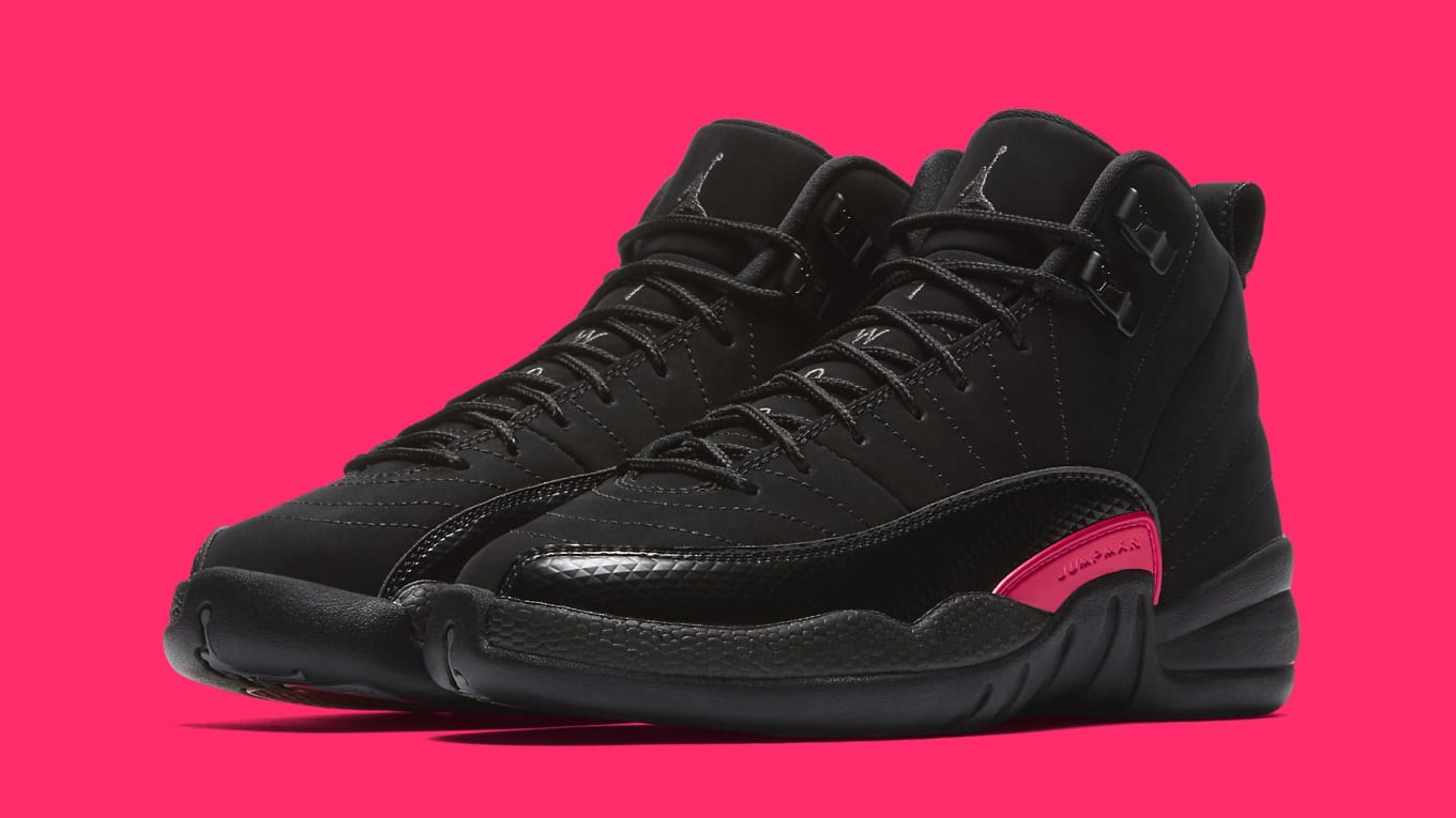 d41e02eb0d28 Air Jordan 12 Retro GG  Black Dark Grey-Rush Pink  510815-006 ...