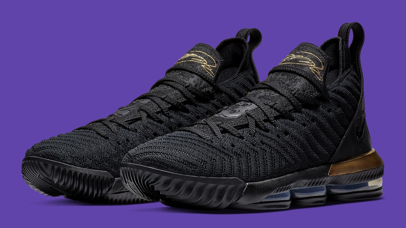 199a237682f Nike LeBron 16  I m King  Black Metallic Gold-Black BQ5970-007 ...