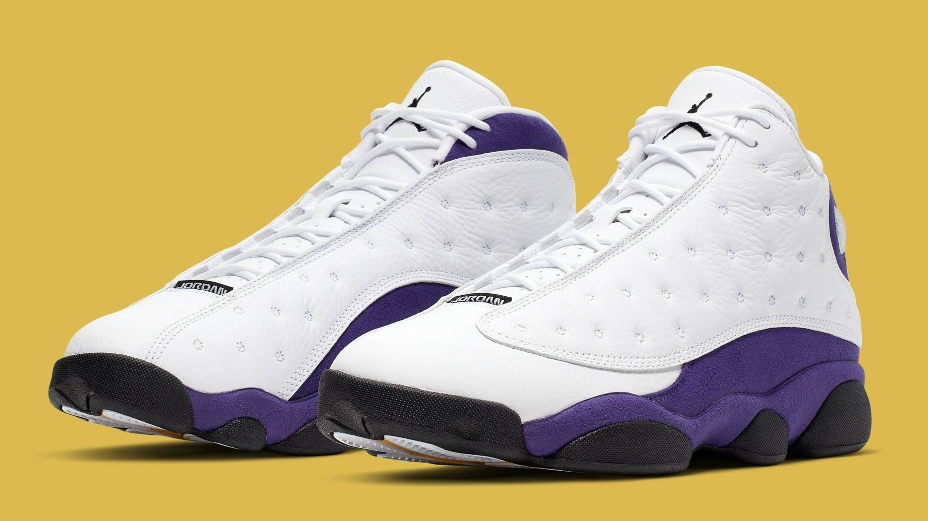 super popular 8ed40 498f4 Air Jordan 13 'Lakers' White/Black-Court Purple-University ...