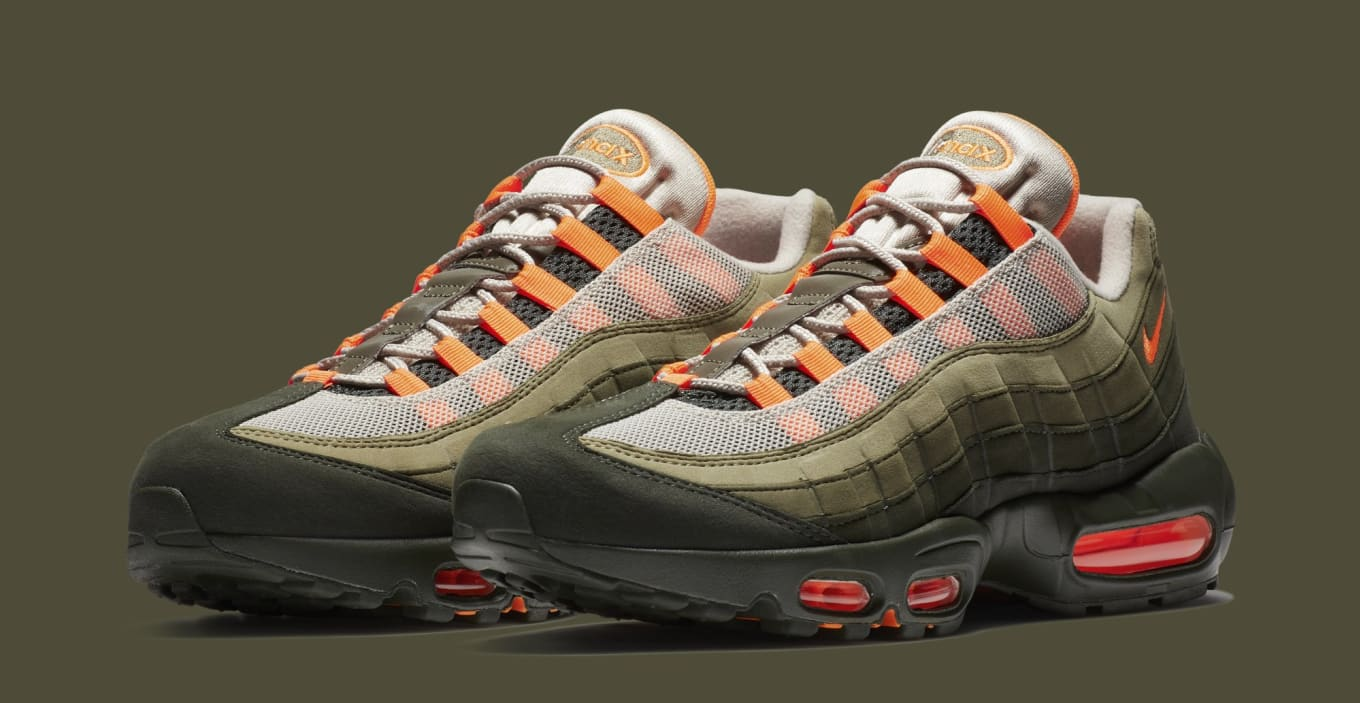 hot sale online 08055 3052b Nike Air Max 95 OG String/Total Orange-Neutral Olive AT2865-200 ...