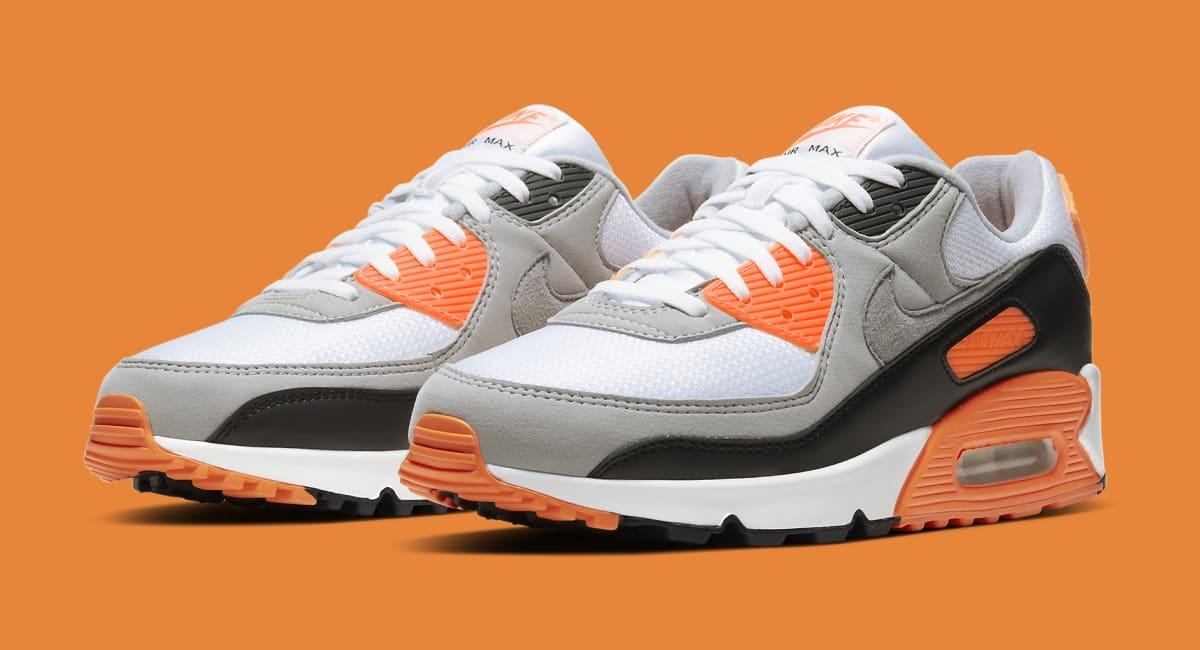 Nike Air Max 90 'Total Orange' Release Date CW5458-101   Sole ...