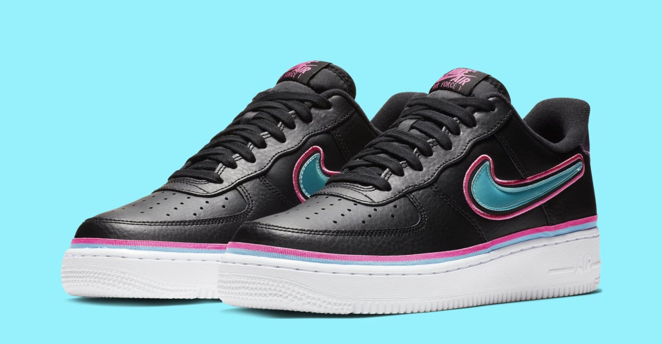 36a0dd6e70425b NBA x Nike Air Force 1 Low  Miami  Release Date