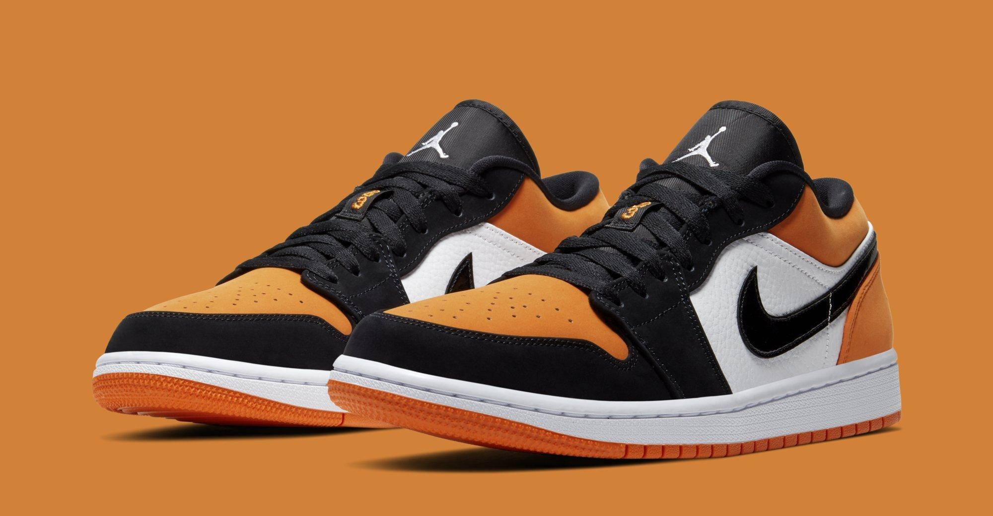 Air Jordan 1 Low 'Shattered Backboard' Black/White-Starfish 553558 ...