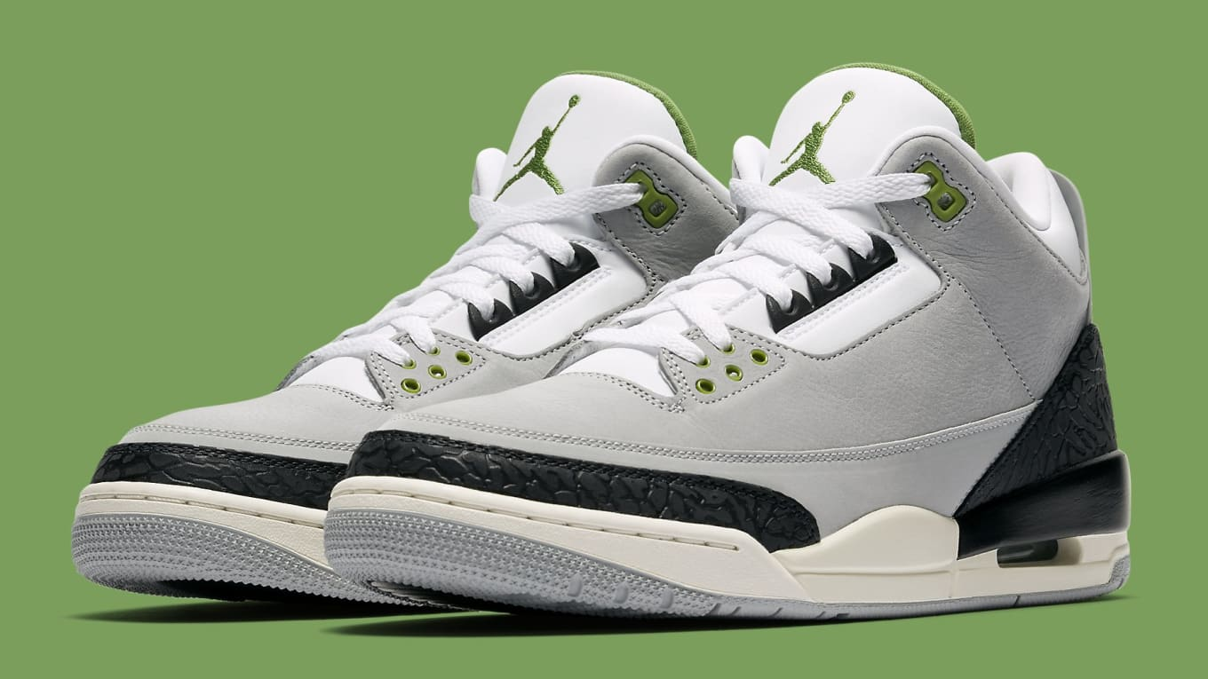 17ca123d450898 New Release Date for the  Chlorophyll  Air Jordan 3. Inspired by Tinker  Hatfield s Air Trainer 1.