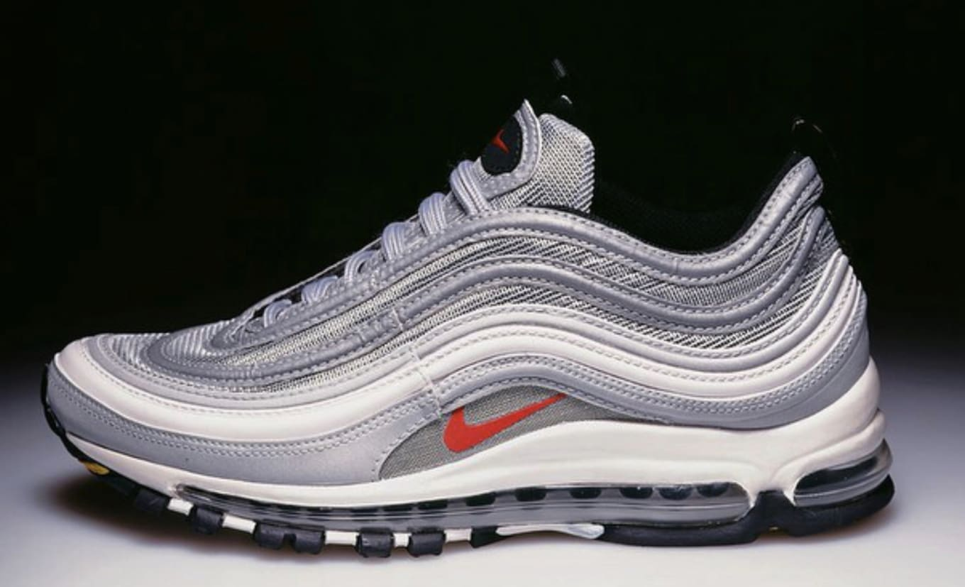 newest 10653 34810 Air Max 97 Designer Shows Off an Original Sample. See the very first  Silver  Bullet.