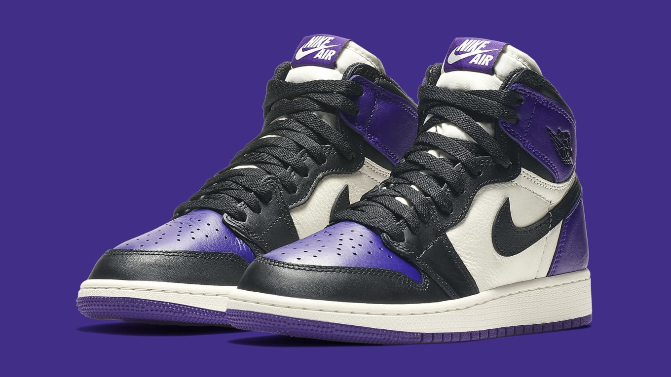 8df8ee079ffb Air Jordan 1 GS  Pine Green   Court Purple  Release Date 575441-302 ...