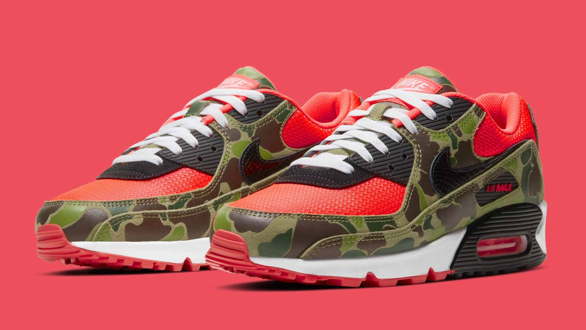 Nike Air Max 90 'Infrared Duck Camo' Release Date CW6024-600 ...